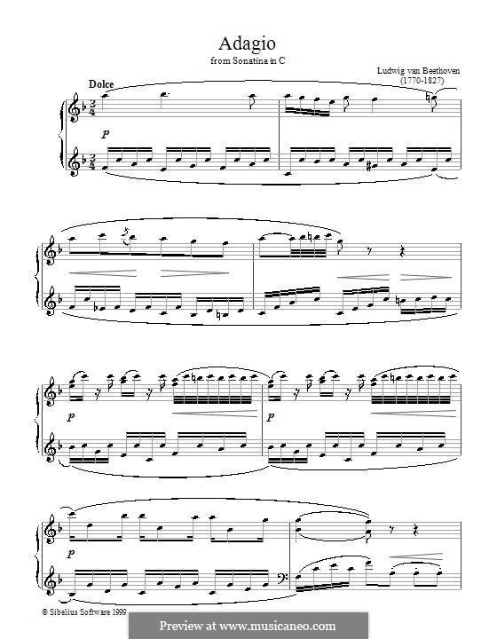 Sonatina in C Major: movimento II by Ludwig van Beethoven
