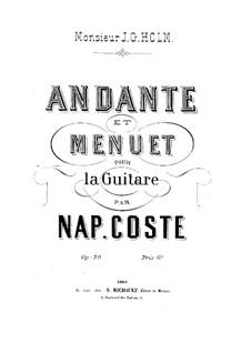Andante and Menuet , Op.39: Para Guitarra by Napoléon Coste