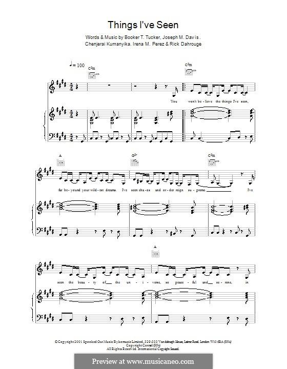 Things I've Seen (Spooks): Para vocais e piano (ou Guitarra) by Booker T. Tucker, Chenjerai Kumanyika, Joseph M. Davis