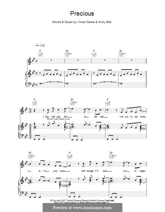 Precious (Erasure): Para vocais e piano (ou Guitarra) by Andy Bell, Vince Clarke