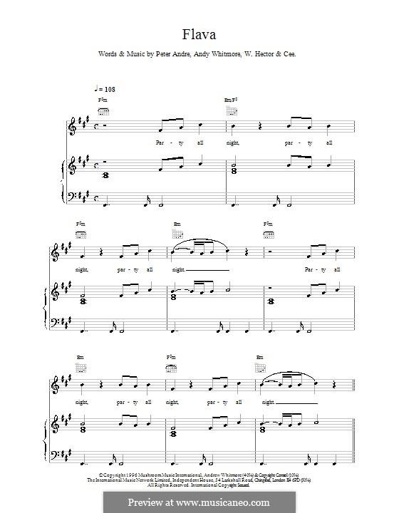 Flava: Para vocais e piano (ou Guitarra) by Andy Whitmore, Wayne Anthony Hector