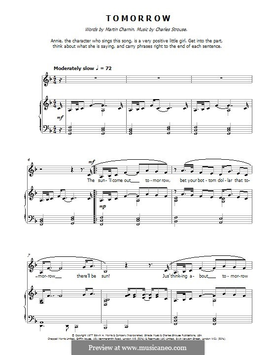 Tomorrow (from Annie): Facil para o piano by Charles Strouse