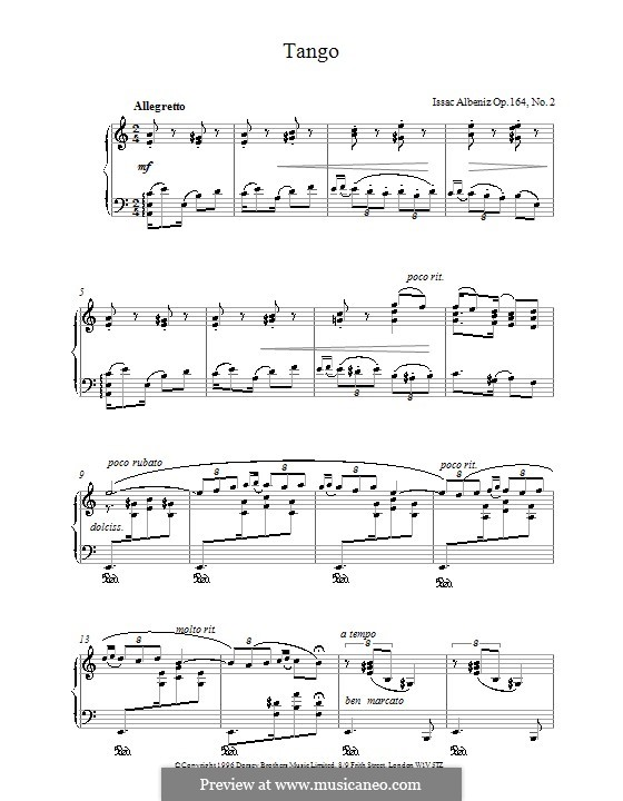 Two Spanish Dance, Op.164: No.2 Spanish Tango by Isaac Albéniz