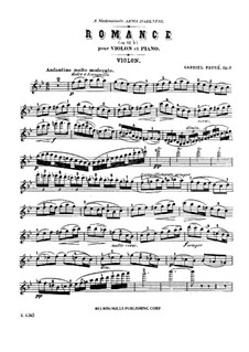 Romance for Violin and Piano in B Flat Major, Op.28: Romance for Violin and Piano in B Flat Major by Gabriel Fauré