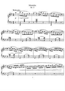 Mazurka in B Flat Major, Op.32: Para Piano by Gabriel Fauré