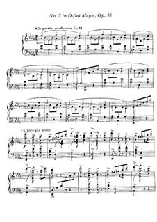 Valse Caprice No.2 in D Flat Major, Op.38: Para Piano by Gabriel Fauré