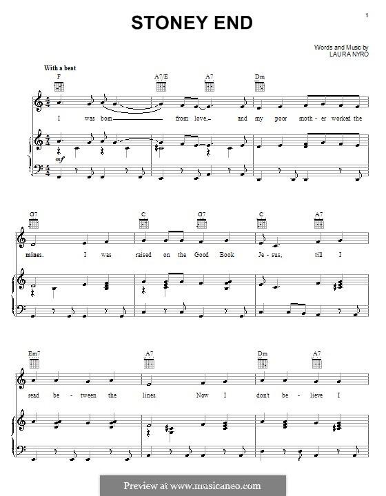 Stoney End (Barbra Streisand): Para vocais e piano (ou Guitarra) by Laura Nyro