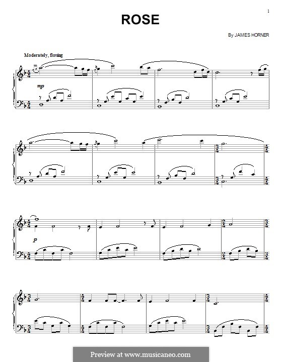 Rose (from Titanic): Para Piano by James Horner