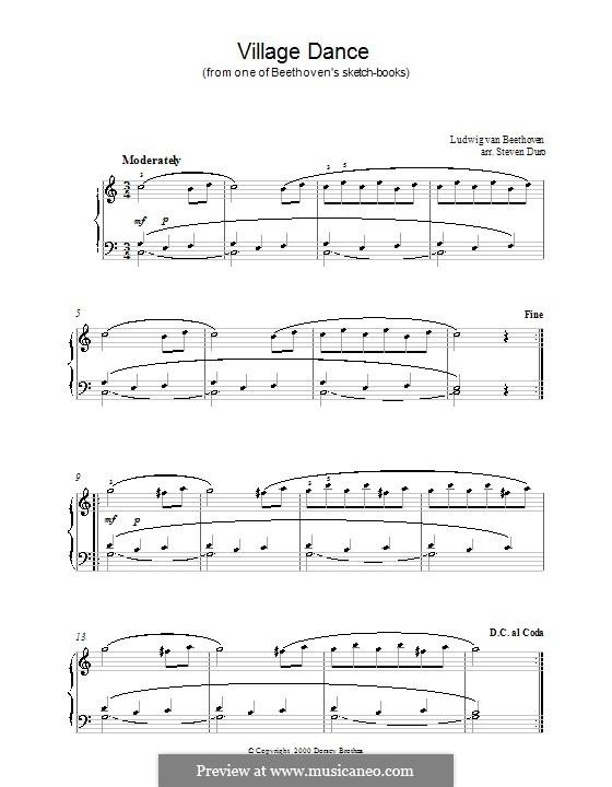 Village Dance: Village Dance by Ludwig van Beethoven