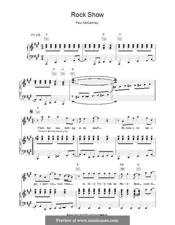 Rock Show: Para vocais e piano (ou Guitarra) by Paul McCartney