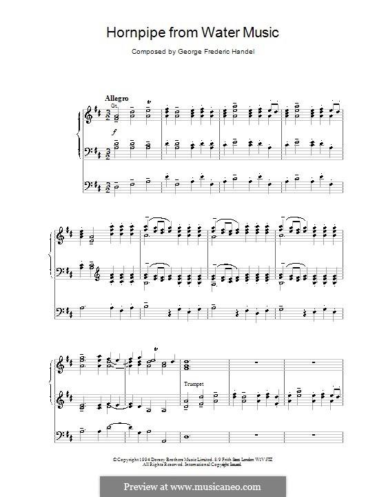 Suite No.2 in D Major, HWV 349: Alla Hornpipe, for organ by Georg Friedrich Händel