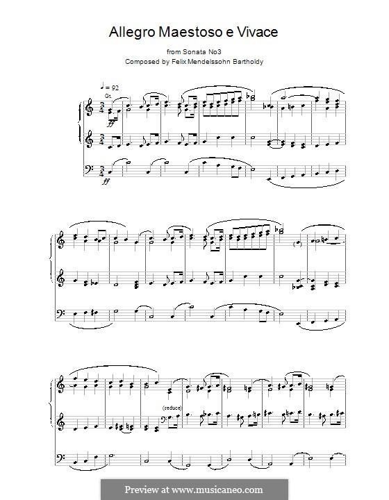 Sonatas for Organ, Op.65: Sonata No.2. Allegro Maestoso e Vivace by Felix Mendelssohn-Bartholdy