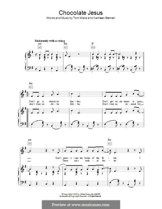 Chocolate Jesus: Para vocais e piano (ou Guitarra) by Kathleen Brennan, Tom Waits