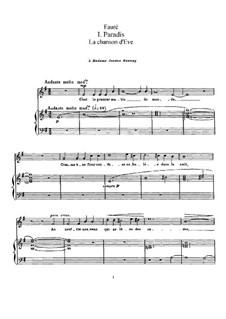 La chanson d'Eve, Op.95: La chanson d'Eve by Gabriel Fauré