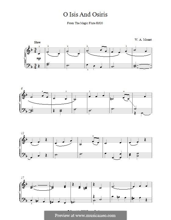 O Isis and Osiris: Para Piano by Wolfgang Amadeus Mozart
