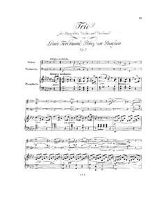 Piano Trio in A Flat Major, Op.2: Piano Trio in A Flat Major by Louis Ferdinand Prince of Prussia