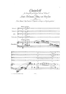 Piano Quintet in C Minor, Op.1: Partitura completa by Louis Ferdinand Prince of Prussia