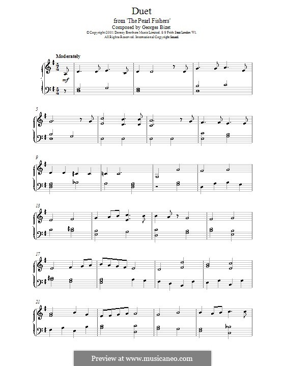 Del tempio al limitar: Para Piano by Georges Bizet