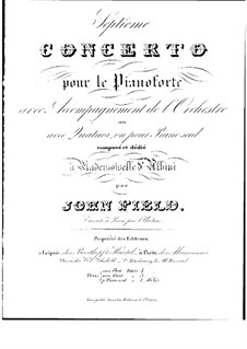 Concerto for Piano and Orchestra No.7, H.58: Concerto for Piano and Orchestra No.7 by John Field