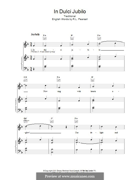 In dulci jubilo: Para vocais e piano (ou Guitarra) by folklore