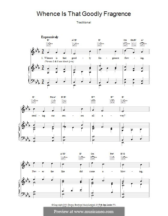 Whence Is That Goodly Fragrance: Para vocais e piano by folklore
