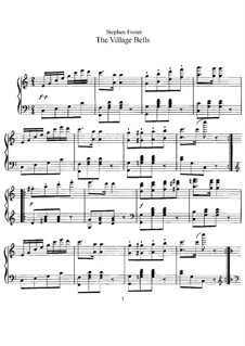 The Village Bells: Para Piano by Stephen Collins Foster