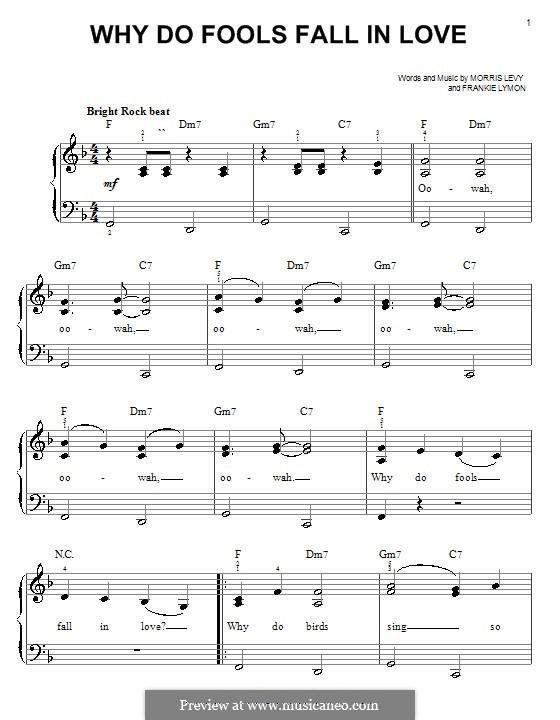 Why Do Fools Fall in Love: Facil para o piano by Frankie Lymon, Morris Levy