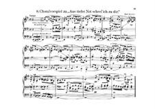 Choral Prelude 'Aus tiefer Not schrei' ich zu dir': Choral Prelude 'Aus tiefer Not schrei' ich zu dir' by Hermann Robert Frenzel