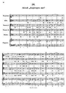 Asperges me, K.204: Asperges me by Johann Fux