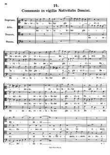 Communio in vigilia Nativitatis Domini, K.284: Communio in vigilia Nativitatis Domini by Johann Fux
