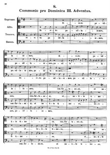 Communio pro Dominica III. Adventus, K.286: Partitura vocal by Johann Fux