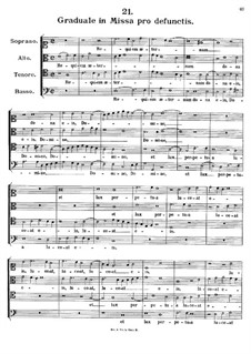 Graduale in Missa pro defunctis. Requiem aeternam, K.147: Graduale in Missa pro defunctis. Requiem aeternam by Johann Fux