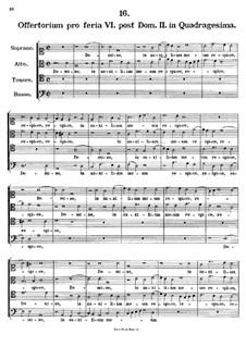 Offertorium pro feria VI. post Dominicam II. in Quadragesima, K.154: Offertorium pro feria VI. post Dominicam II. in Quadragesima by Johann Fux