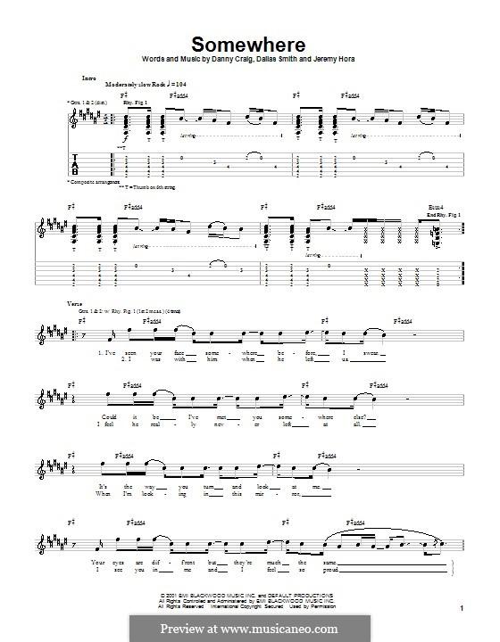 Somewhere (Default): Para guitarra com guia by Dallas Smith, Danny Craig, Jeremy Hora