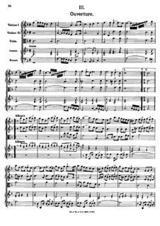 Overture in F Major, K.354: Overture in F Major by Johann Fux