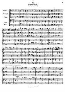 Overture in D Minor, K.357: Partitura completa by Johann Fux