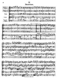 Overture in G Minor, K.355: Partitura completa by Johann Fux