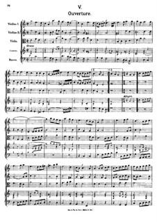 Overture in C Major, K.356: Overture in C Major by Johann Fux