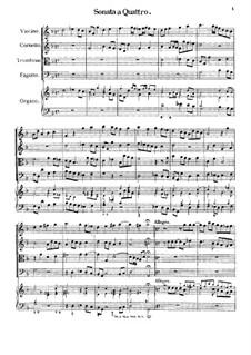Sonata a Quattro, K.347: partitura completa by Johann Fux