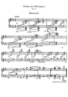 Poème des montagnes, Op.15: Poème des montagnes by Vincent d' Indy