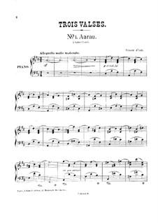 Helvétia. Three Waltzes, Op.17: set completo by Vincent d' Indy