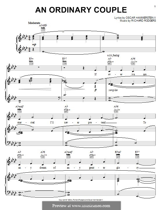 An Ordinary Couple (from The Sound of Music): Para vocais e piano (ou Guitarra) by Richard Rodgers