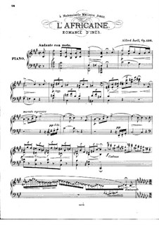 L'africaine (The African Woman): Romance d'Inès, for Piano by Giacomo Meyerbeer
