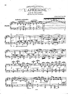 L'africaine (The African Woman): Air de Nelusko, for Piano by Giacomo Meyerbeer