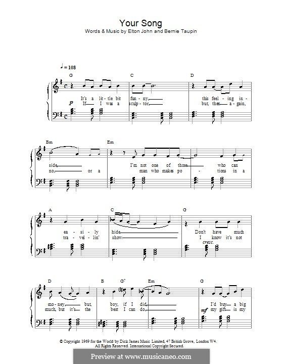 Your Song: Facil para o piano by Elton John