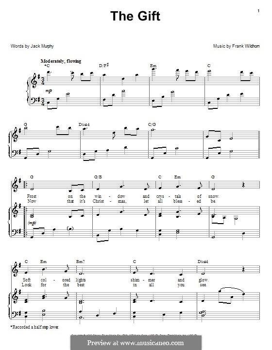 The Gift: Para vocais e piano (ou Guitarra) by Frank Wildhorn