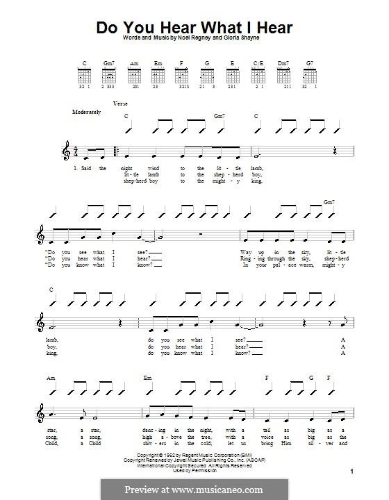 Do You Hear What I Hear: para guitarras (com dedilhado) by Gloria Shayne, Noël Regney