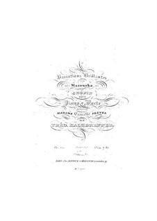 Brilliant Variations on Mazurka of Chopin, Op.120: Brilliant Variations on Mazurka of Chopin by Friedrich Kalkbrenner
