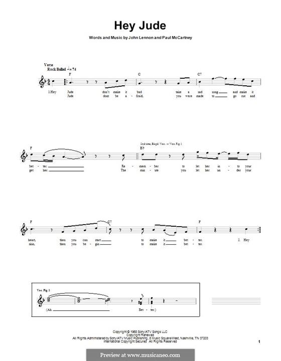 Hey Jude (The Beatles): para baixo com guia by John Lennon, Paul McCartney