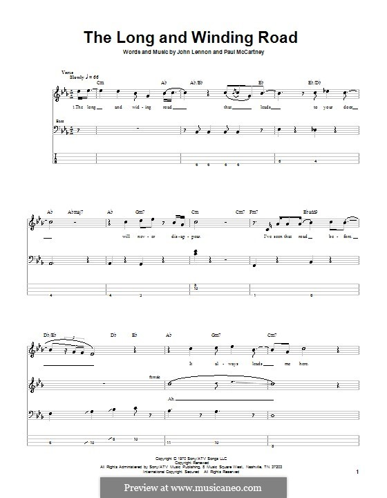 The Long and Winding Road (The Beatles): para baixo com guia by John Lennon, Paul McCartney